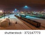 Railway Station In Winter