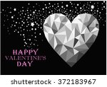 happy valentines day greeting... | Shutterstock . vector #372183967