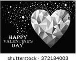 happy valentines day greeting... | Shutterstock . vector #372184003