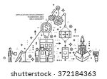 flat style  thin line art... | Shutterstock .eps vector #372184363