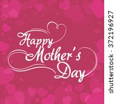mothers day vector | Shutterstock .eps vector #372196927