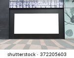 large blank billboard on a... | Shutterstock . vector #372205603