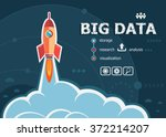 big data concept on background... | Shutterstock .eps vector #372214207