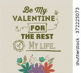 valentines card design    Shutterstock .eps vector #372225073