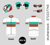 bike or bicycle clothing set. ... | Shutterstock .eps vector #372227743
