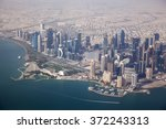Stock photo aerial view on doha capital city of qatar 372243313