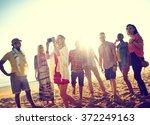 friendship freedom beach summer ... | Shutterstock . vector #372249163