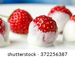 Fresh Strawberry Dip In Yogurt