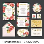 wedding floral template... | Shutterstock .eps vector #372279097