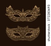 lace mask mardi gras. henna... | Shutterstock .eps vector #372283693