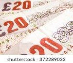 Detail Of British Pound Coins...