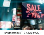 led display   shopping sale... | Shutterstock . vector #372295927