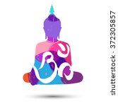 "vector abstract poster with ""om""... 