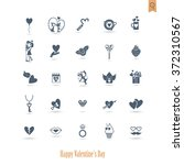 simple flat icons collection... | Shutterstock .eps vector #372310567