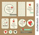 set of cards  gift tags and... | Shutterstock .eps vector #372311263
