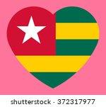 togo flag on valentine's day... | Shutterstock .eps vector #372317977
