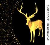 vector merry christmas happy... | Shutterstock .eps vector #372331543