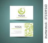 yoga position logo template....   Shutterstock .eps vector #372339163