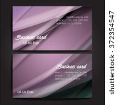 stylish business cards with... | Shutterstock .eps vector #372354547