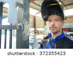 Stock photo welder 372355423