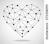 Geometric Heart. Vector...