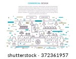 commercial interior design... | Shutterstock .eps vector #372361957