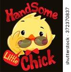 funny cartoon  handsome little...   Shutterstock .eps vector #372370837