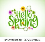 Hello Spring Vector Design Wit...