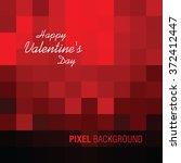 happy valentine's day ... | Shutterstock .eps vector #372412447