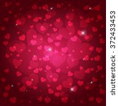 valentines day card  abstract... | Shutterstock .eps vector #372433453