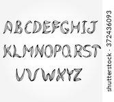 english alphabet. vector...   Shutterstock .eps vector #372436093
