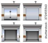 vector garages | Shutterstock .eps vector #372455563