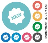 flat new badge icon set on...