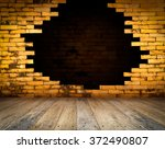 room  brick wall and wood floor ... | Shutterstock . vector #372490807