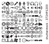 dashboard icons and symbols | Shutterstock .eps vector #372491203
