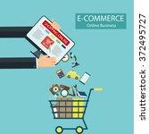e commerce. shopping online.... | Shutterstock .eps vector #372495727