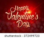 valentine's day calligraphy... | Shutterstock .eps vector #372499723