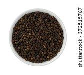 whole black pepper in a ceramic ... | Shutterstock . vector #372515767