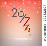2017 new year on colorful... | Shutterstock .eps vector #372522877