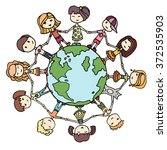 children around the world. kids ... | Shutterstock .eps vector #372535903