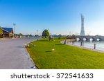 aspire park in doha city  the... | Shutterstock . vector #372541633