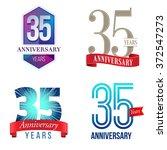 35 years anniversary logo | Shutterstock .eps vector #372547273