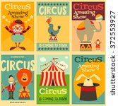 circus entertainment posters... | Shutterstock .eps vector #372553927
