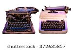 retro typewriter isolated  old... | Shutterstock . vector #372635857