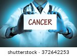 doctor keeps a card with the... | Shutterstock . vector #372642253
