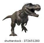 tyrannosaurus rex 3d render on...   Shutterstock . vector #372651283