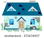 the unoccupied house which... | Shutterstock .eps vector #372676927
