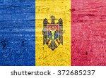 moldova flag on vintage...   Shutterstock . vector #372685237