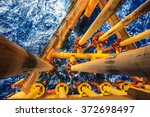 offshore industry oil and gas... | Shutterstock . vector #372698497