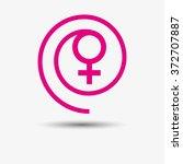 woman logo. pink. | Shutterstock .eps vector #372707887